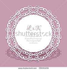 doily lace border cutout paper stock vector 726353209