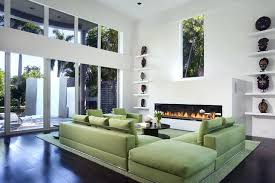 light green couch living room light green sofa houzz green sofa large trendy living room photo in