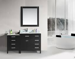 Bathroom Vanity With Offset Sink 56 Inch Single Sink Bathroom Vanity With Extra Drawer Bank