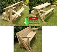 Foldable Picnic Table Bench Plans by Wood Magazine Plans Wood Workbench Plans Zombie