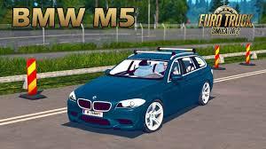 mod car game euro truck simulator 2 ets2 bmw m5 car mod euro truck simulator 2 youtube
