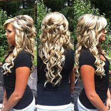 prom hairstyles for long hair half up half down cute back to