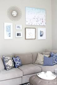 diy gallery wall art peachfully chic peachfully chic gray blue living room wall art