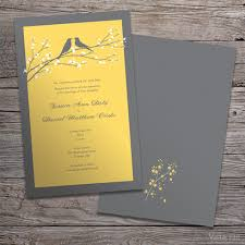 vista print wedding programs yellow birds designer collection vistaprint grey yellow