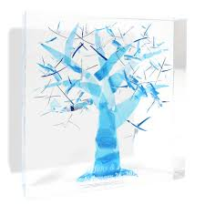 judaica wedding registry wedding gift crushed wedding glass lucite tree of