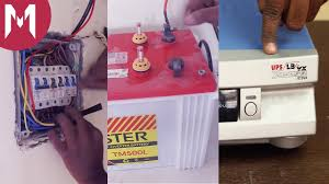 how to connect an inverter at your home with battery backup