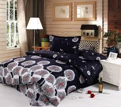 black white dandelion 3d printed bedding full queen size comforter