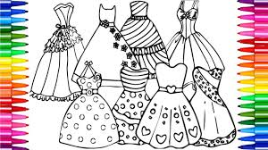 coloring beautiful princess dresses drawing pages to color for