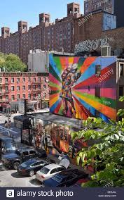 street art mural manhattan stock photos street art mural mural paintings 10th avenue west 25th street manhattan new york city
