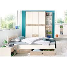 ensemble de chambre ensemble chambre à coucher enfant lit armoire 3 portes étagère 5