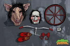 horror film characters u0027 essentials cloakwork graffiti