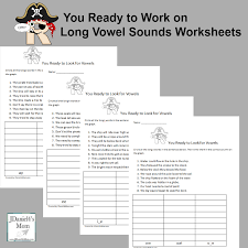 arrr you ready to work on long vowel sounds worksheets