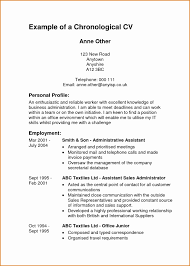 exle of chronological resume charming exle of chronological resume with sle chronological
