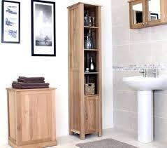 Oak Bathroom Cabinets by Bathroom Storage Oak Tallboy Bathroom Furniture Tall Oak
