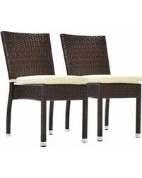 Patio Dining Chairs With Cushions Amazing Deal Outdoor Benasse Jersey Stackable Wicker Patio Dining