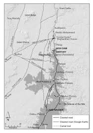 West Bank Map Map Of Desert Roads And Trails On The West Bank Of The Nile In The
