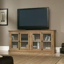 Sauder Tv Stands And Cabinets Sauder Barrister Lane Storage Credenza Tv Stand Salt Oak Hayneedle