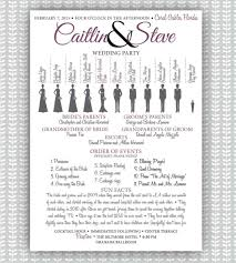wedding program poster party ivory poster etsy posters ivory bridesmaid
