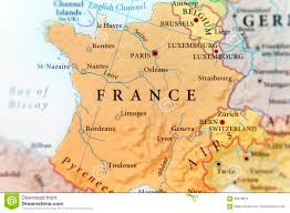 Map Of France Cities by Geographic Map Of European Country France With Important Cities