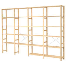 ivar 4 sections shelves pine shelves solid wood and cupboard