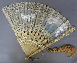 hand fans for sale antique ornate painted folding hand fan victorian lace sheer fabric