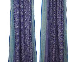 Sheer Blue Curtains Tie Dye Curtains Etsy