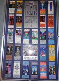 seagrams football 25 years of super bowl tickets poster 1991