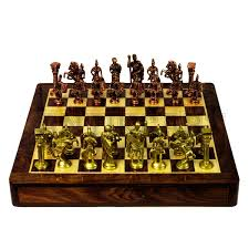 beautiful chess sets rosewood chess board and brass roman chess pieces antikcart
