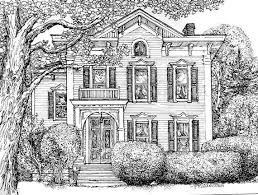 drawn house home pencil and in color drawn house home