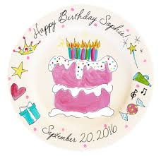 personalized birthday plate personalized birthday plate girl timree