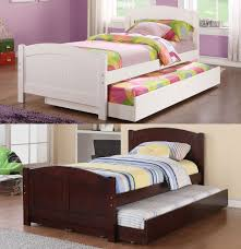 bedroom 1 single bed with trundle brown kids bedroom furniture