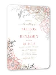 wedding invitations shutterfly floral fringe 5x7 wedding invitations shutterfly