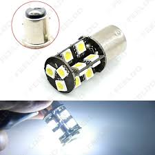 car brake light bulb feeldo car accessories official store 1pcs white bay15d 1157 p21w