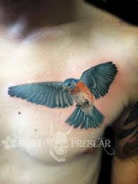 blue bird leg tattoo design photo 1 real photo pictures