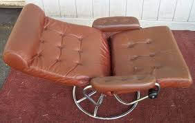 Reclining Leather Armchair Ekornes Stressless Lounge Chair Recliner Leather Chair And Ottoman