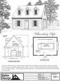 colonial garage plans colonial 1 car garage plan no 432 1 by behm design 18 x 24