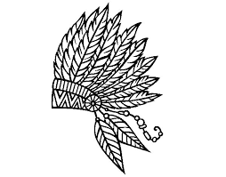 coloring pages of indian feathers indian feather crown coloring page coloringcrew com