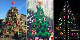 7 most unique christmas trees crazy christmas trees to visit