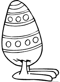 free printable easter egg coloring pages free printable easter egg with feet coloring page for kidsfree