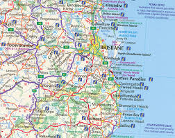 map of queensland queensland state and cities map 419 5th ubd gregorys maps