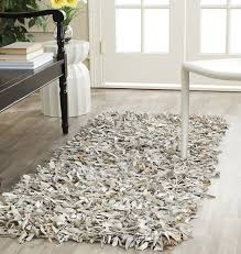Plush Runner Rugs Safavieh Leather Shag Collection Lsg511c Woven