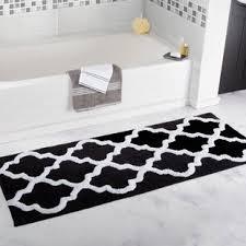 Black And White Bathroom Rugs Black White Bath Rugs Mats You Ll Wayfair