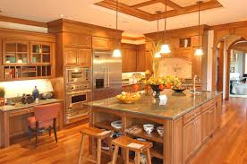 astounding kitchen with contemporary wood kitchen cabinets design