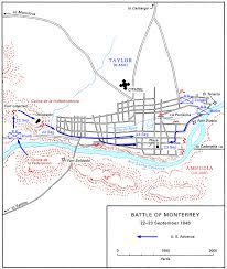 Battle Of New Orleans Map by Gateway South The Campaign For Monterrey