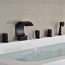 Bathtub Handheld Shower Senlesen Waterfall Bathroom Tub Faucet Brushed Nickel 5pc Bathtub