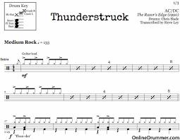 thunderstruck u2013 acdc onlinedrummer com