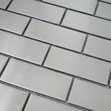 2x4 Subway Tile Backsplash by Construction Silver Tiles Stainless Steel Subway Tile Backsplash