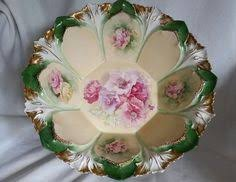 rs prussia bowl roses antique rs prussia porcelain china 8 5 plate beautiful roses