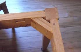 how to build a table base attaching table legs with a dowel jig