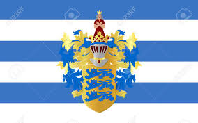 Flag Capital Flag Of Tallinn Is The Capital And Largest City Of Estonia Stock